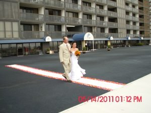 bride-father-of-bride-walking-down-aisle